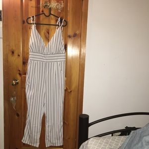 Other - Strappy Vertical Lined Jumpsuit